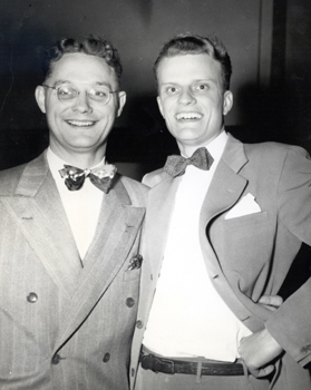 Photo File: Johnson, Torrey M.   Johnson with Billy Graham, Ca. 1946.