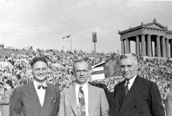 Photo File: Johnson, Torrey M.   Johnson with Charles Fuller (on right) at Soldier 
